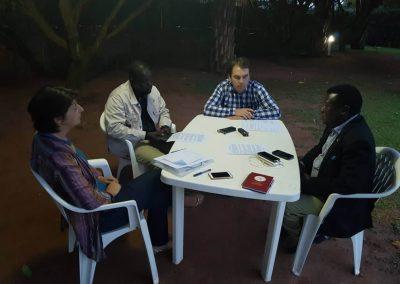 Amani Researchers interviewing Hon.Nobert Mao on Reparations in Northern Uganda
