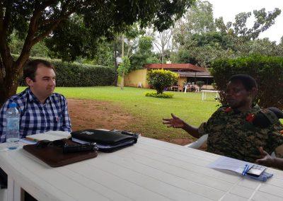 Amani Researchers interviwing Col.Acoka in Gulu