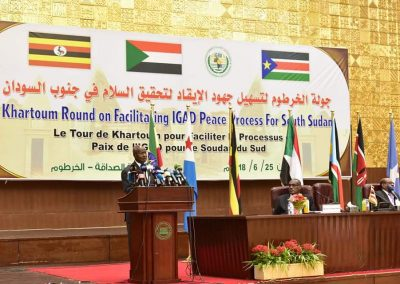 Signing ceremony of the South Sudan Agreement in Khartoum supported by Amani Institute.