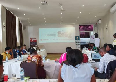 Defend Defenders Amani Institute Uganda attending a consultative meeting on the Human Rights Defenders Protection Bill 2020 at Protea Hotel Sky, Kampala.